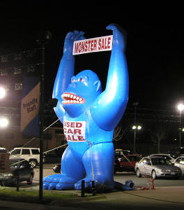 Inflatable Blue Gorilla
