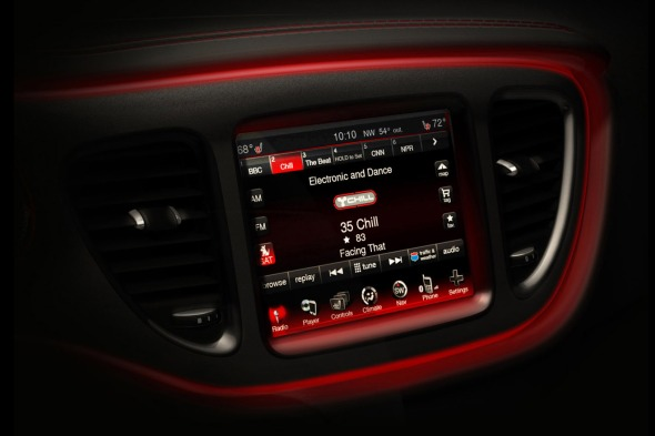 Interior Media Center 2013 Dodge Dart