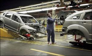 Dodge Caliber on Assembly Line