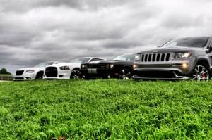 SRT family (L to R) 2012 Chrysler 300 SRT8, Dodge Charger SRT8,